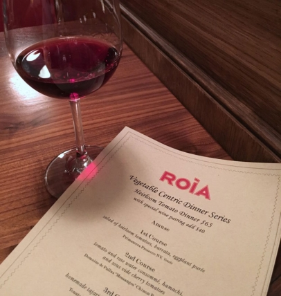 ROIA's menu