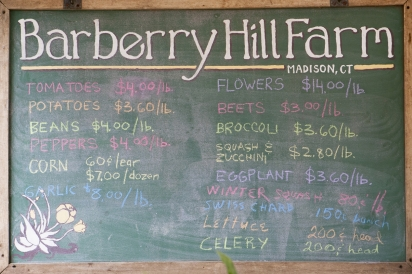 market prices and offerings of Barberry Hill Farm