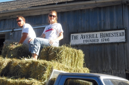 Tyson and Jennifer Averill in front of their family barn