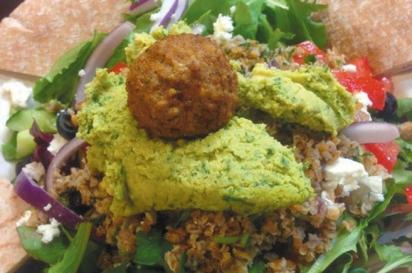 vegetarian falafel arugula wrap