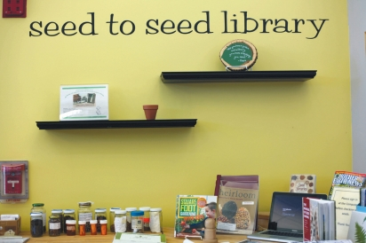Fairfield Library Seed Circulation desk
