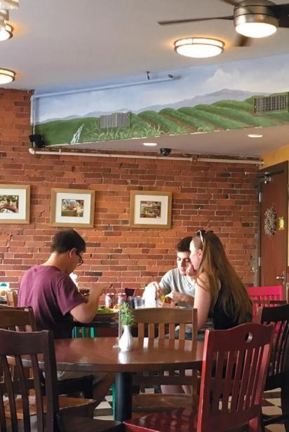 guests seated in claires corner copia restaurant