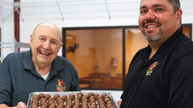 John Fascia and Carmen Romeo of Fascia's Chocolates.