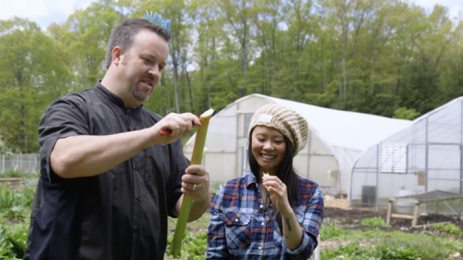 chef plum and jessica wong at holbrook farm