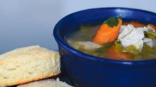 Chicken Stew with Biscuits recipe